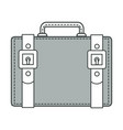 travel old-fashioned suitcase with belts detailing vector image vector image