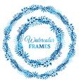 Two watercolor frames vector image vector image