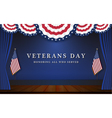 Veterans Day Background With Circle Wavy USA Flag vector image vector image