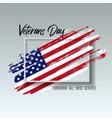 veterans day card creative vector image vector image