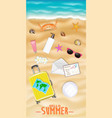 women beach travel object on a sea sand beach vector image vector image