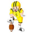 young kid playing football vector image vector image