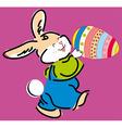 cute Easter bunny holding e vector image