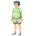 A fat man standing vector image vector image