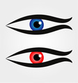 Abstract fish with large eyeball inside vector image