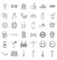 alcohol drink icons set outline style vector image vector image