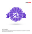 ambulance crash icon - purple ribbon banner vector image