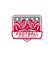 American Football Championship Crest Retro vector image vector image