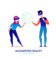 augmented reality vector image vector image
