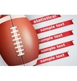 Background of Statistics American Football vector image vector image
