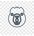 beaver concept linear icon isolated on vector image