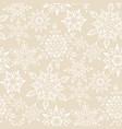 beige snowfalls pattern vector image