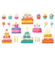 Birthday cakes party celebration cupcake
