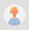 blonde girl avatar beautiful woman face female vector image
