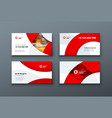 business card design card template vector image