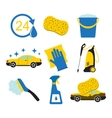 Car wash tools icons vector image vector image