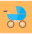 Child buggy flat stylized vector image