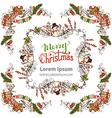 Christmas ornate frames set vector image vector image