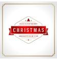 Christmas snowflake retro typographic and ornament vector image