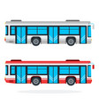 city bus flat isolated vector image vector image