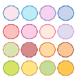 Colorful Set of Circle Vintage Labels vector image vector image