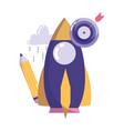 creativity technology rocket pencil target arrow vector image