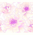 cute seamless pattern with realistic pink roses vector image vector image