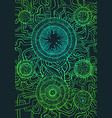 cyberpunk style decorative pattern green color vector image vector image