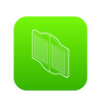 doors in western saloon icon green vector image vector image