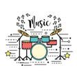 drums musical instrument to play music vector image vector image