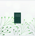 elegant green leaves background vector image vector image