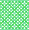 fresh green gingham fabric cloth seamless pattern vector image vector image