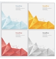 geometric rumpled triangular low poly style vector image vector image