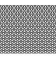 geometric seamless pattern black white hexagons vector image vector image