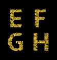 golden broken letters vector image vector image