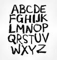 Handwritten alphabet ink hand lettering vector image