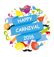 Happy Carnival vector image