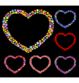 hearts of flowers vector image vector image