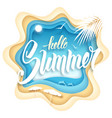 hello summer paper art vector image