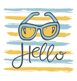 hello sunglasses pattern vector image vector image