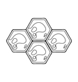 Honeycombs icon in outline style isolated on white vector image vector image