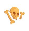 human skull and bones maya civilization symbol vector image vector image
