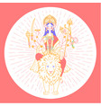 icon of goddess durga vector image vector image