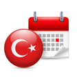 Icon of National Day in Turkey vector image