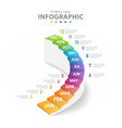 infographic timeline diagram calendar stair vector image vector image