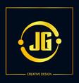 initial letter jg logo template design vector image vector image
