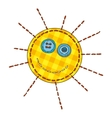 Isolated Patchwork Yellow Funny Sun vector image vector image