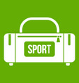 large sports bag icon green vector image vector image