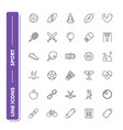 line icons set sport vector image vector image