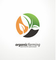 logo design layout with plant graphic vector image vector image
